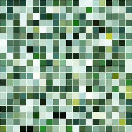 Mosaikfliesen Textur Vektor-Muster. Square pixel nahtlose Hintergrund Standard-Bild - 42811771