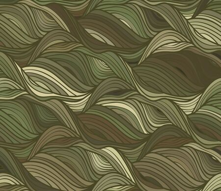khaki: Abstract vector wave colorful background of drawn lines