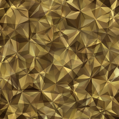 Abstract Vector Brown Military Camouflage Background Made of Geometric Triangles Shapes