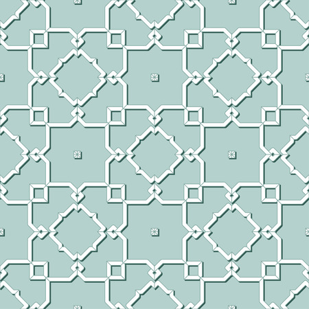 Abstract Seamless Geometric Islamic Wallpaper. Vector Arabic Monochrome Pattern. Lace Texture 向量圖像