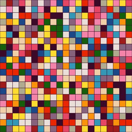 mosaic tiles: Mosaic tiles texture vector pattern. Square pixel seamless background