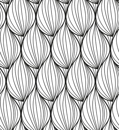 Abstract vector seamless floral black white background of hand drawn lines 版權商用圖片 - 50564630