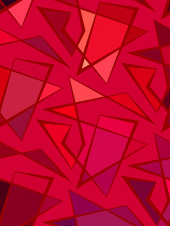 striped lines: Abstract vector red background of doodle striped lines. Polyline pattern Illustration