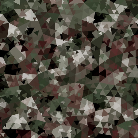 Abstract Vector Military Camouflage Background. Pattern of Geometric Triangles Shapes.