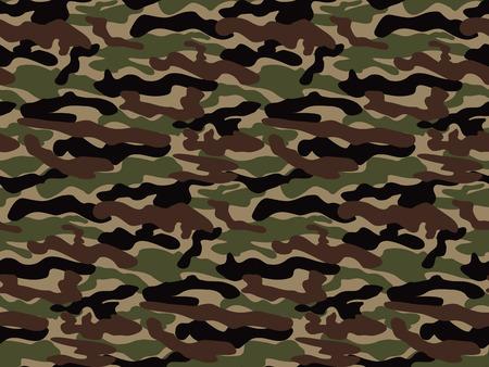 Abstract Vector Militaire Camouflage Achtergrond. Naadloos Patroon van Camo voor het leger kleding. Vector Illustratie