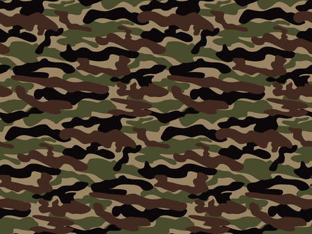 Abstract Vector Military Camouflage Background. Seamless Camo Pattern for Army Clothing.