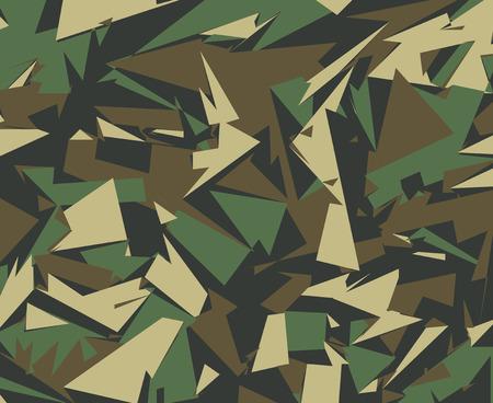 Resumen de vectores de fondo de camuflaje militar. Modelo de Camo de Triángulos geométricos Formas para Ropa Ejército.