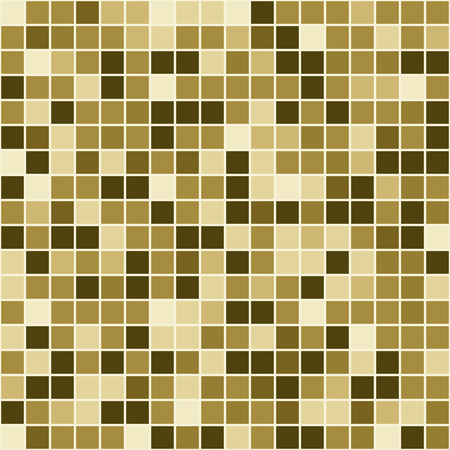 casing: Mosaic tiles texture vector pattern. Square pixel seamless background
