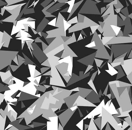 Abstract Vector Grey Military Camouflage Background. Pattern of Geometric Triangles Shapes for Army Clothing