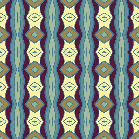 Vector naadloze achtergrond. Vintage kleurrijk patroon. Retro kleur achtergrond