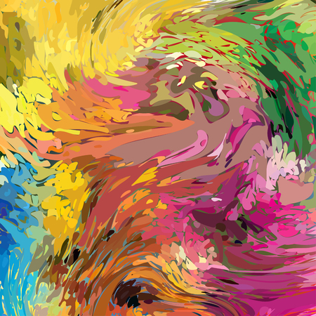 Vector Watercolor Colorful Background. Abstract Art Hand Paint