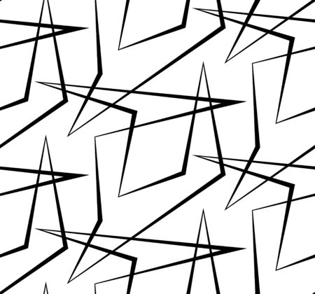 striped wallpaper: Abstract vector seamless background of broken lines. Monochrome striped pattern. Black white wallpaper. Illustration