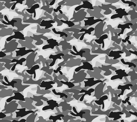 Abstract  Military Gray Camouflage Background Made of Splash. Camo Grey Pattern for Army Clothing.