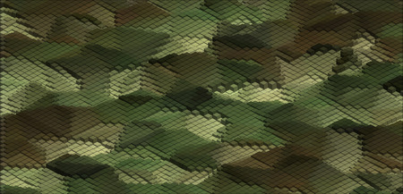 camo: Isometric Graphic Pattern. Abstract Vector 3D Geometric Camo Background