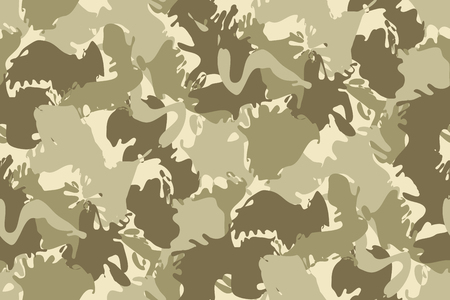 camo: Abstract Vector Military Camouflage Background Made of Splash. Seamless Camo Pattern for Army Clothing.