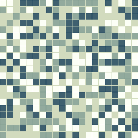 mosaic tiles: Mosaic tiles texture vector color pattern. Square pixel seamless colorful background
