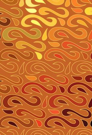 brown wallpaper: Abstract vector color background of doodle hand drawn lines. Colorful floral pattern. Wave brown wallpaper