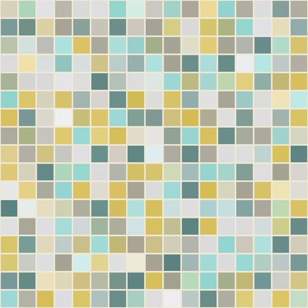 casing: Mosaic tiles texture vector color pattern. Square pixel seamless colorful background
