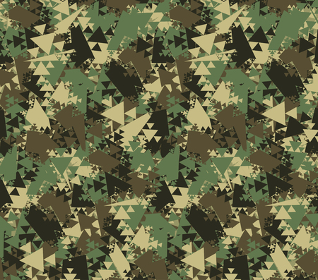 Abstract Vector Color Military Camouflage Background. Pattern of Geometric Triangles Shapes for Army Clothing