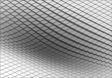 grey pattern: Isometric Graphic Pattern. Abstract Vector 3D Geometric Grey Background