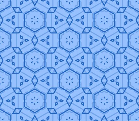 retro wallpaper: Retro Blue Seamless Vector Wallpaper
