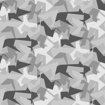 Abstract Vector Military Camouflage Background. Illustration