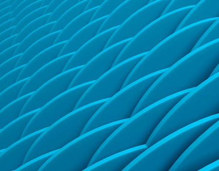 Abstract color geometric pattern with perspective. Blue industrial background. 3d rendering illustration.