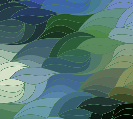 Abstract vector color background of doodle hand drawn lines. Colorful floral pattern. Wave wallpaper