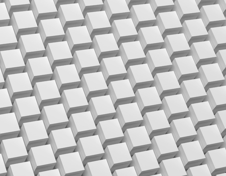 3D rendering abstract monochrome geometric background. Illustration of gray cube.