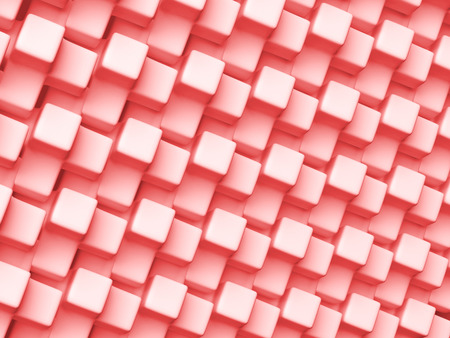 3D rendering abstract red background. Geometric pattern. 版權商用圖片