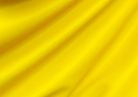 Beautiful Yellow Silk. Drapery Textile Background. Abstract soft elegant satin Фото со стока