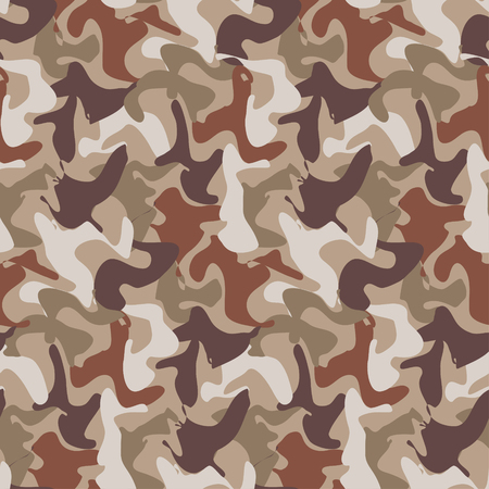Abstract Vector Military Camouflage Background Made of Splash. Seamless Camo Pattern for Army Clothing.
