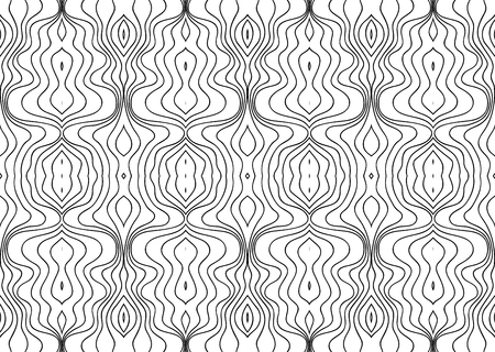 Vector Black White Seamless Wallpaper. Vintage Monochrome Pattern. Retro Background 版權商用圖片 - 126662985