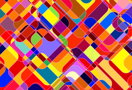 Colorful Abstract Background. Vector Retro Pattern of Geometric Shapes 版權商用圖片 - 126662835