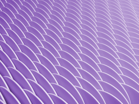 Abstract color geometric pattern with perspective. Purple industrial background. 3d rendering illustration.