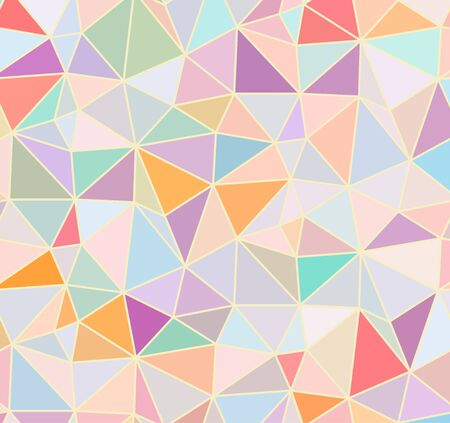 Colorful Triangle Abstract Background. Vector Pattern of Geometric Shapes 向量圖像