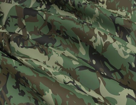 Abstract Military Camouflage Background Made of Splash. Camo Pattern for Army Clothing. Beautiful Color Drapery Satin.