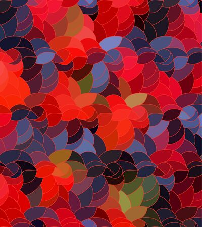 Abstract vector color background of doodle hand drawn lines. Colorful floral pattern. Wave wallpaper 版權商用圖片 - 146698012