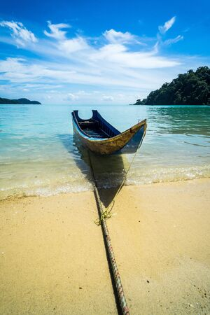 hovercraft: boat tour With sea view Thailand Attractions Stock Photo