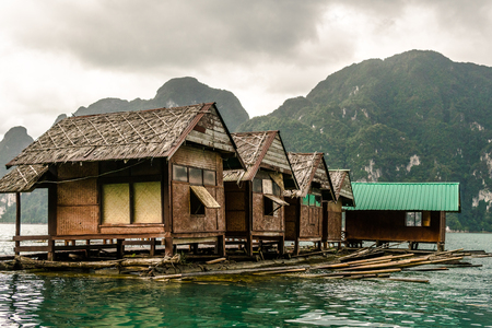 Floating house With natural scenery in Thailand