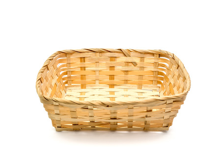 basket put the object and white background. ( clipping path )