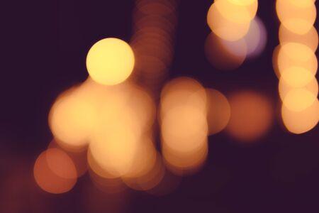 ボケ美しいライトラウンド、ライトがぼやけた画像として撮影されました。背景として使用できます。