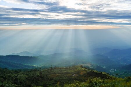 The beautiful landscape and the light passing through the clouds. To see the power of great and powerful, natural
