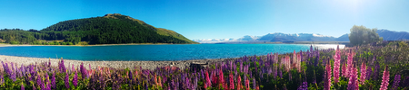 Beautiful natural landscape and vast.And making me feel refreshed and relaxed  the image panorama. Stockfoto