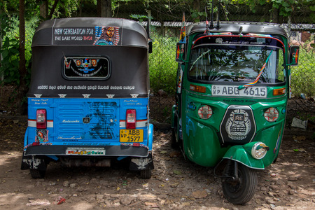 tuk tuk is their favorite transport vehicle in Sri Lanka for short distance Editorial