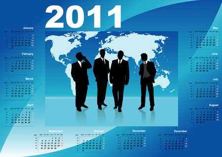 illustration with business calendar  Vector