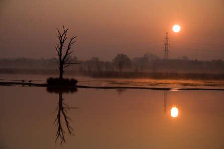 plassen: Sunrise Boerenveense Plassen Holland
