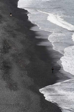 beach iceland Stock Photo