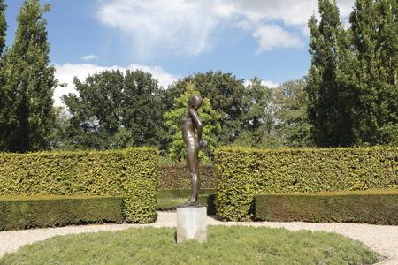 Bronze statue in the garden of estate Borg, Netherlands Stock Photo