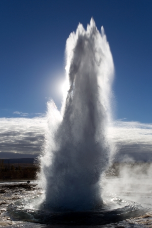 iceland: The eruption of Geysir, Iceland